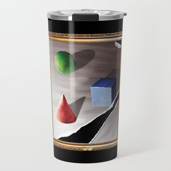 Broken By Design Travel Mug