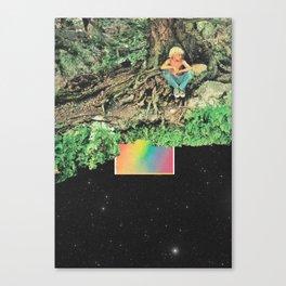 El árbol sobre el arcoíris  Canvas Print