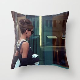Audrey Hepburn #2 @ Breakfast at Tiffany's Throw Pillow