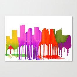 Scottsdale, Arizona Skyline - Puddles Canvas Print