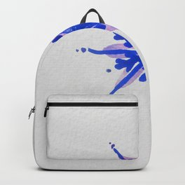 WATERCOLOR SNOWFLAKE - blue and purple palette Backpack