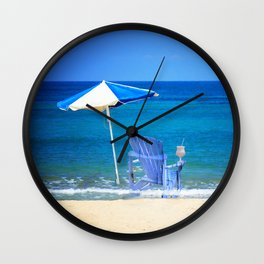 Blue Rocking Chair Wall Clock