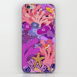 Block Party on the Reef - Clownfish Anemone Marine Sea Life Coral iPhone Skin