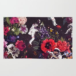 Flowers and Astronauts Rug