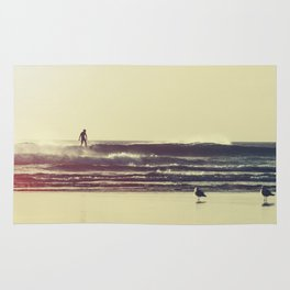 Sunset Surfers Rug