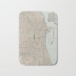 Vintage Map of Chicago (1893) Bath Mat