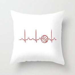 VOLLEYBALL HEARTBEAT Throw Pillow