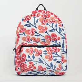 Cherry Blossoms – Melon & Navy Palette Backpack