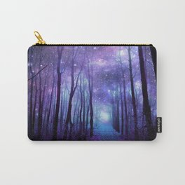 Fantasy Forest Path Icy Violet Blue Carry-All Pouch