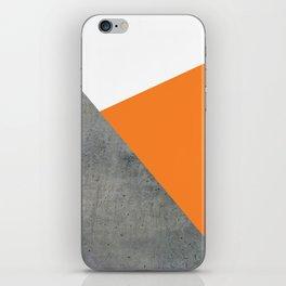 Concrete Tangerine White iPhone Skin