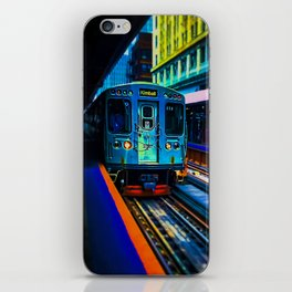 Brown Line Approaching iPhone Skin