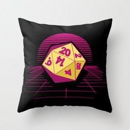 DND Synthwave Throw Pillow