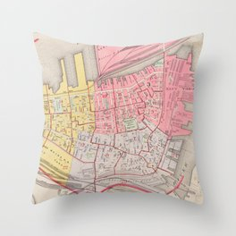 Vintage Map of Charlestown Massachusetts (1901) Throw Pillow