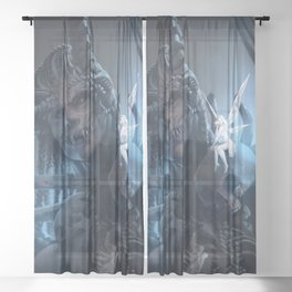 Tooth and Bone Sheer Curtain