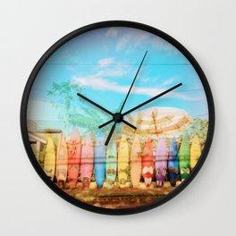 Beach Surf Layers Wall Clock
