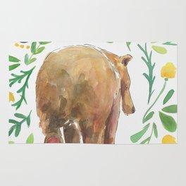 Watercolor Bear Rug
