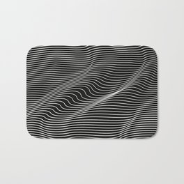Minimal curves black Bath Mat