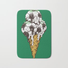 Ice Cream Soccer Balls Bath Mat