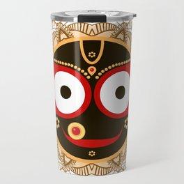Jagannath. Indian God of the Universe. Lord Jagannatha. Travel Mug