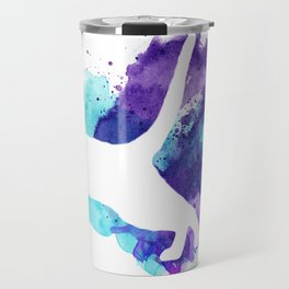 Watercolor Splat Cat Travel Mug