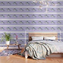 Bottlenose dolphin purple background Wallpaper