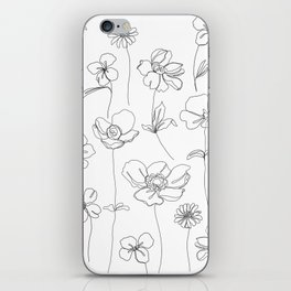 Botanical illustration drawing - Botanicals White iPhone Skin