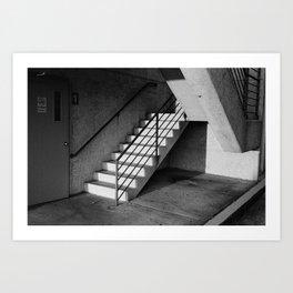 Parking Deck Stairs Art Print