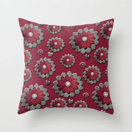 Red for my valentine Throw Pillow