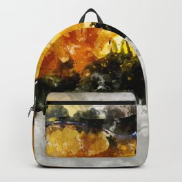 Forest Yellow Mushroom Backpack