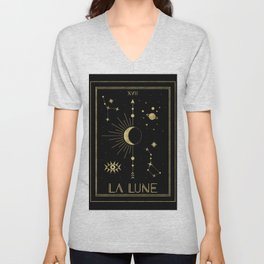 The Moon or La Lune Gold Edition Unisex V-Neck
