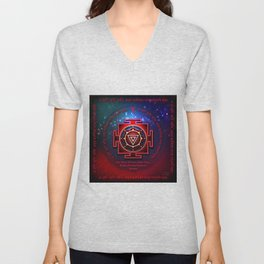 Kali Yantra with the Great Fifteen-Syllable Mantra Unisex V-Neck