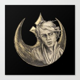 Luke Skywalker and Rebellion Insignia Canvas Print