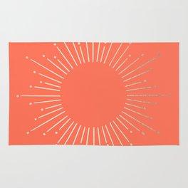 Simply Sunburst in Deep Coral Rug