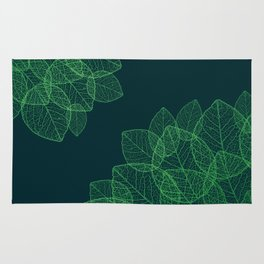 Dry Leaves - Green Rug