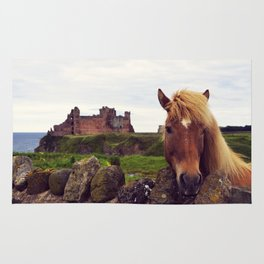 Lovely Horse And Tantallon Castle Rug