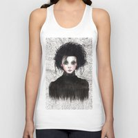 edward scissorhands Tank Tops featuring Edward Scissorhands by ARTEMYSA