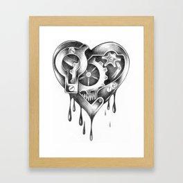 Mechanical Heart Framed Art Print
