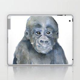 Baby Gorilla Watercolor Laptop & iPad Skin