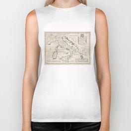 Vintage Map of Italy (1700) Biker Tank