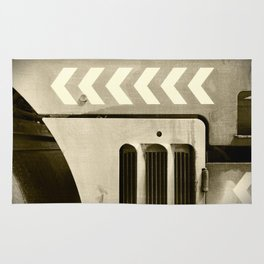 Road Roller Chevron 05 - Industrial Abstract Rug