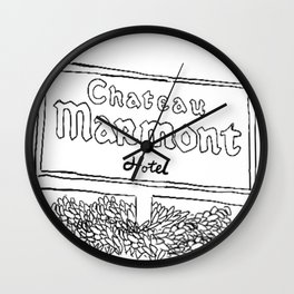 Chateau Marmont Sign Wall Clock
