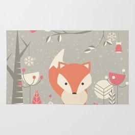 Christmas baby fox 03 Rug