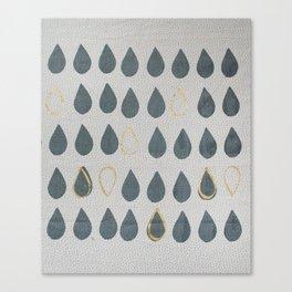 Gold Drops Canvas Print