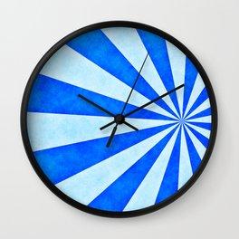 Blue sunburst Wall Clock