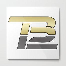 TB12 Gold and Grey Metal Print