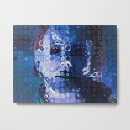 Chuck Close and Personal with Michael Meyers Metal Print