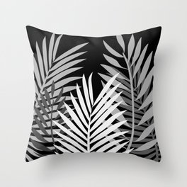 TROPICAL PALM LEAVES 1 Throw Pillow