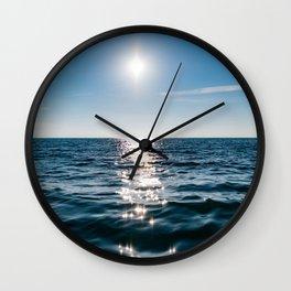 Sea Blue Sky sun Wall Clock