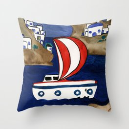 Journey to Greece Throw Pillow
