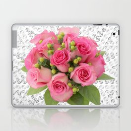 Pink Rose Silver Mandala Laptop & iPad Skin